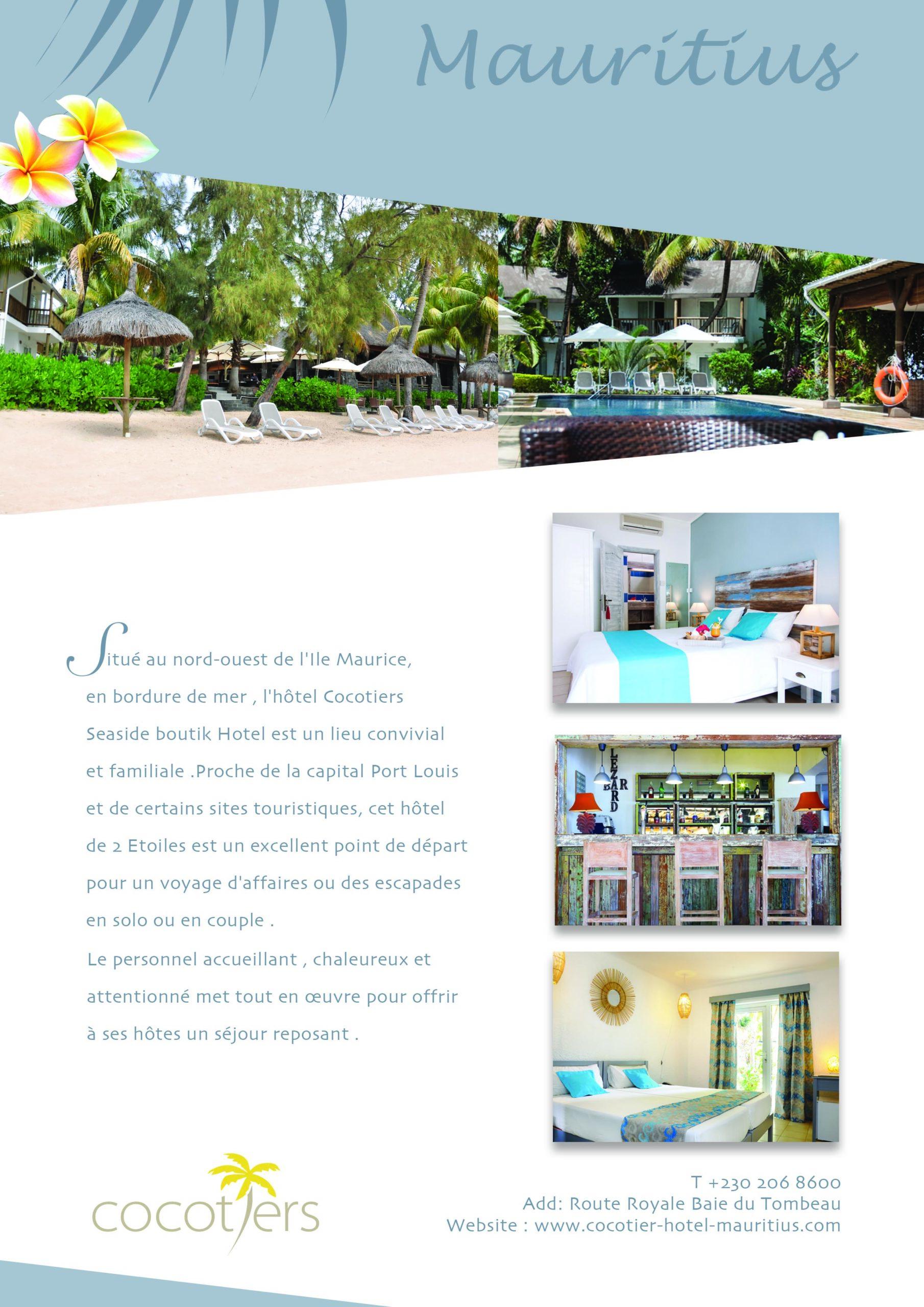 Présentation hôtel Cocotiers île Maurice